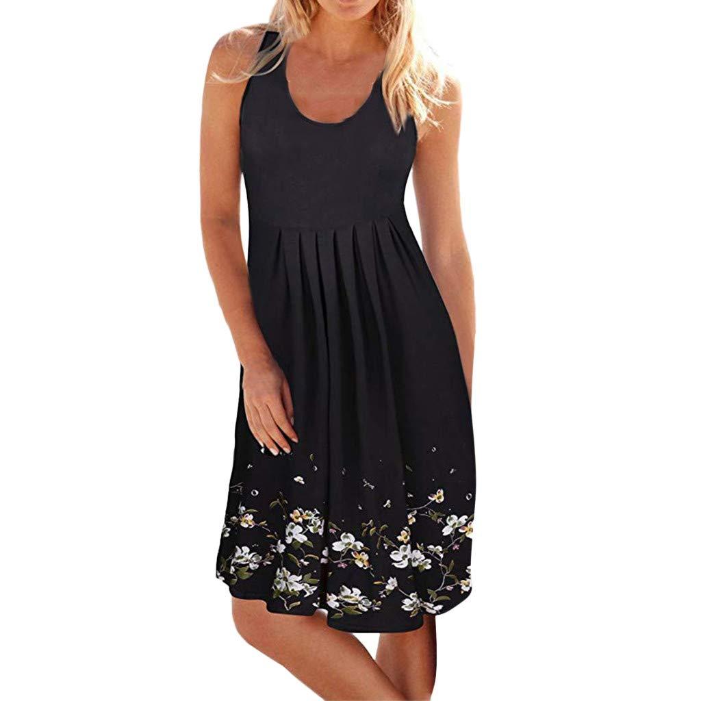Beach Dress Women Summer Casual Sleeveless Evening Party Short Dress