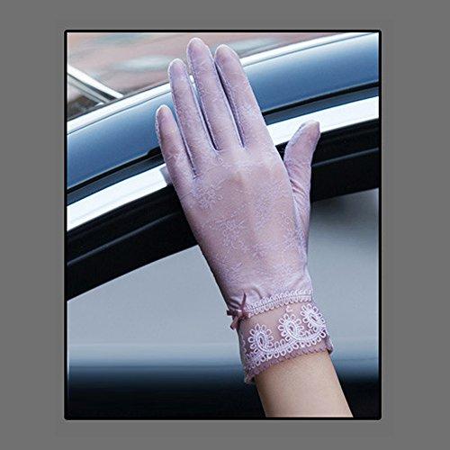 毎週比類のないワットCoio 女性手袋 レディースUVカット レース 薄手日焼け防止 紫外線カット ブライダル手袋(スタイル 9))