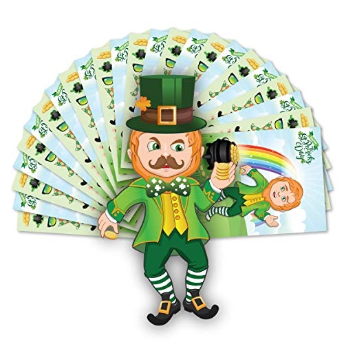 Colonel Pickles Novelties St Patrick's Day Crafts for Kids Make A Leprechaun Sticker Set - 12 Sets]()