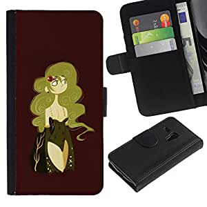 All Phone Most Case / Oferta Especial Cáscara Funda de cuero Monedero Cubierta de proteccion Caso / Wallet Case for Samsung Galaxy S3 MINI 8190 // Sexy Woman Maroon Golden Blonde