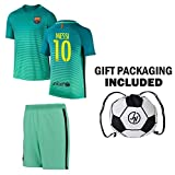 Best Soccer Jerseys - JerzeHero Barcelona Messi #10 Soccer Gift Set ✓ Review