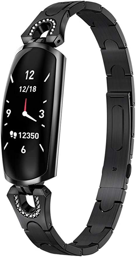 Amazon.com: Hauzet Female Smart Watch,24-Hours HR & BP ...