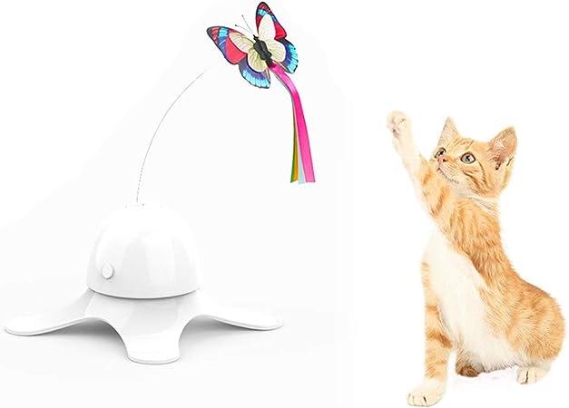 Haplws Juguete para Gatos Juguete para Gatos Palo de Gato Mascota Mariposa eléctrica Juguete para Mascotas Gato Interactivo Juguete para Mariposa Automático Divertido Juguete para Gato: Amazon.es: Hogar