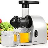 MeyKey Slow Juicer,Masticating Juicer with Juice Cup,Cold Press Juicer Machine with Cleaning Brush for Fruit and Vegetable,150W