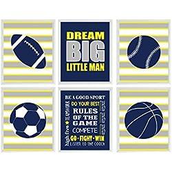 Sports Wall Art, Boy Room Prints, Sports Balls, Baby Boy Nursery, Rules