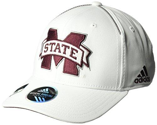adidas NCAA Mississippi State Bulldogs Adult Men Coach's Structured Flex, Small/Medium, ()
