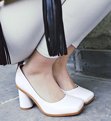 Idifu Scarpe Da Donna Tacco Alto Con Plateau E Scarpe Bianche