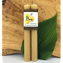 "8"" Hand Rolled Beeswax Taper Candles - Little Bee of Connecticut, Martha Stewart American Made Maker"