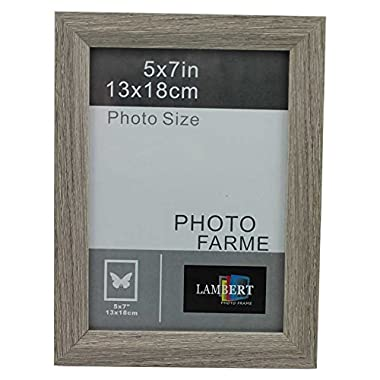 Party Plus 4 Less Wood Picture Frame 5x7 (Grey)