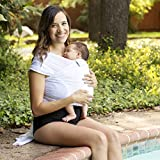 Beachfront Baby Wrap - Versatile Water & Warm Weather Baby Carrier | Made in USA with Safety Tested Fabric, CPSIA & ASTM Compliant | Lightweight, Quick Dry (White Wave, One Size)