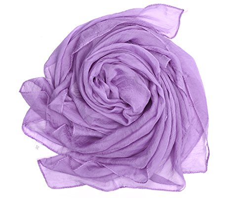 Bear Motion Large Chiffon Scarf & Wrap in Solid Color (Large (60