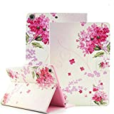 iPad Air 2 Case, iPad Air 2 Cover, Itrendz [Cute Smart Case] PU Leather Flip Case [Magnetic Closure] Stand Smart Cover [Auto Sleep Wake] [Lifetime Warranty] For Apple iPad Air 2, Flower Bouquet