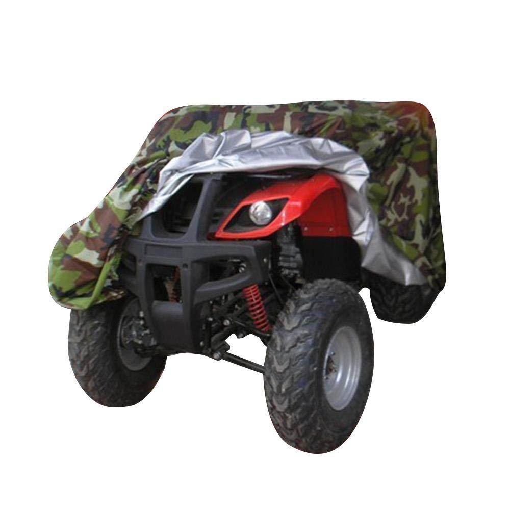 ATV Quad Cubierta Volwco Camuflaje 190T Al Aire Libre Protecci/ón Contra Todo Clima Cubierta de Almacenamiento ATV Quad Bike Impermeable Para la Mayor/ía de Tipos de Veh/ículos ATV