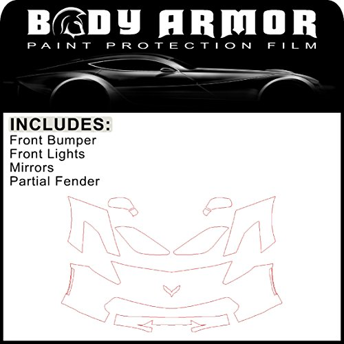 B33 - 2014 2015 2016 2017 Chevy Corvette - Precut Clear Bra PPF Paint Protection Film Pre Cut Kit - Front Bumper, Partial Fenders, Head Lights, Mirrors