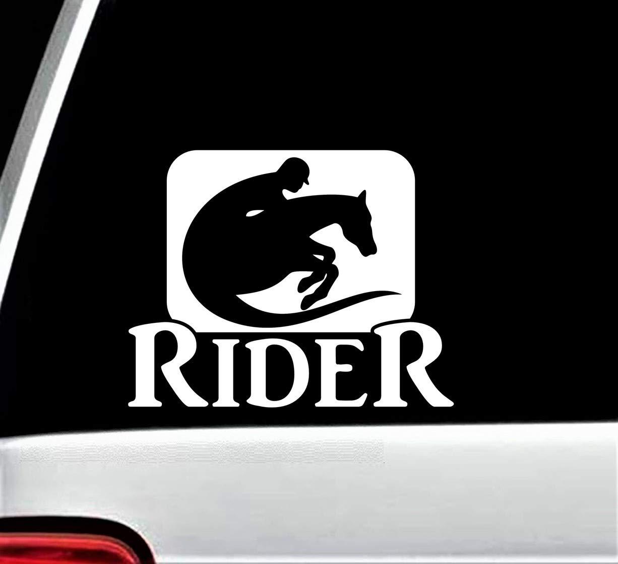 Horseback Riding Horse Rider Decal Sticker for Car Window 6.50 Inch BG 316