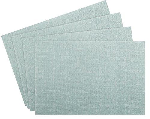Nuovoware Placemats, [4 PACK] 30 x 45 cm Premium Exquisite Crossweave Stain Resistant Heat-resistant Non-slip Textilene Woven Plaid Kitchen Table Dining Mat Pads Place Mats, Mint Green
