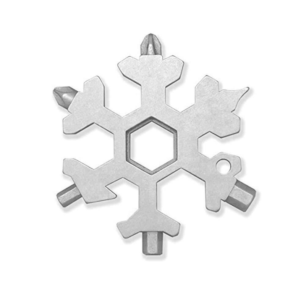 19-in-1 Multi-Tool Portable Mini Schneeflocke Edelstahl Tragbarer Schraubendreher Ö ffner mit Schlü sselringen Pocket Outdoor Handwerkzeuge (A) BBring
