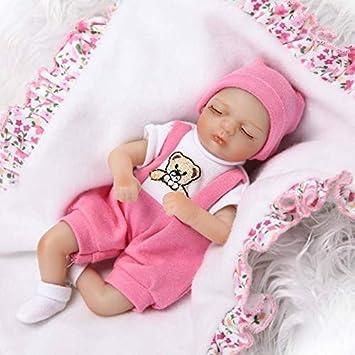 c4be2c6087b4a Nicery Reborn Baby Doll Renaissance Bébé Poupée Doux Simulation Silicone  Vinyle 8pouces 20cm Tissu du Corps