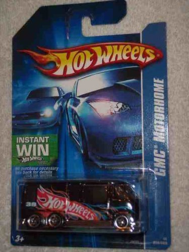 Hot Wheels # 2006-208 GMC Motorhome Black 5-Spoke Wheels 07 Card Collectible Collector Car Mattel 1:64 Escala