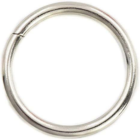 Black Collars and Belt Straps Pack of 10 Shoes BIKICOCO 1-1//4 Metal O Ring Purse Connector Round Loop Buckles Non Welded for Bags
