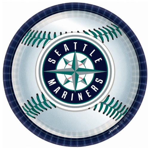 Seattle Mariners Party Plates - 18 Ct Seattle Mariners Lunch