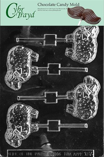 Cybrtrayd Life of the Party E187 Country Lamb Lolly Easter Chocolate Candy Mold in Sealed Protective Poly Bag Imprinted with Copyrighted Cybrtrayd Molding Instructions