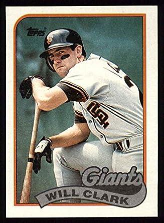 Amazoncom 1989 Topps 660 Will Clark San Francisco Giants