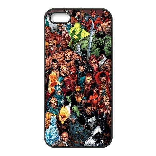 Marvel Comic 015 coque iPhone 5 5S cellulaire cas coque de téléphone cas téléphone cellulaire noir couvercle EOKXLLNCD25848