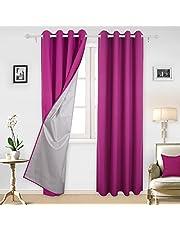 Deconovo FR Vorhang mit silberfarbene