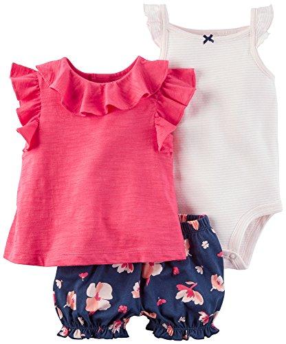 3 Piece Diaper Set - Carter's Baby Girls' 3 Piece Bodysuit & Diaper Cover Set 18 Months