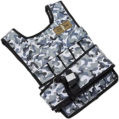 CROSS101 Arctic Camouflage Adjustable Weighted Vest (40lbs)