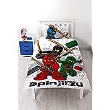 Lego Ninjago Warrior Bettwäsche 2 tlg. - Kissen 48x74cm + Bettbezug 135x200cm