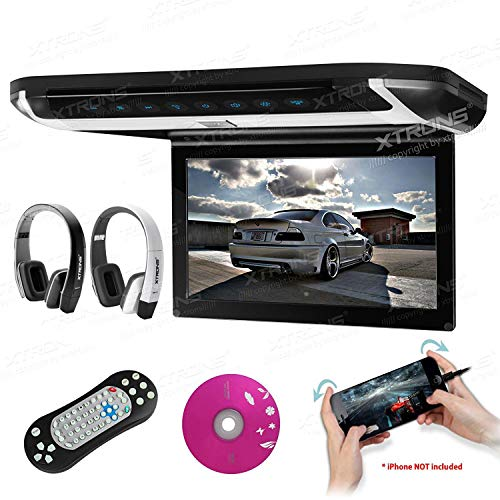 l TFT Monitor Car Roof Flip Down Overhead DVD Player Touch Panel Game Disc with HDMI Port(Built-in DVD Drive) (CR108HDS+DWH002x2) ()