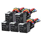 5 Pack - EPAuto 30/40 AMP Relay Harness Spdt