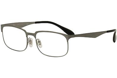 8f83b359770 Ray-Ban Men s RX6361 Eyeglasses Brushed Gunmetal 52mm