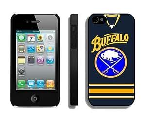 Custom Iphone 4/4s Case NHL Buffalo Sabres 2 Phone Hard Cover by heywan