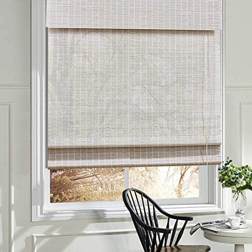 LANTIME Wood Window Roman Shade
