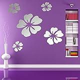5Pcs/Set 3D Flowers Wall Sticker Decal Home DIY Art Decor
