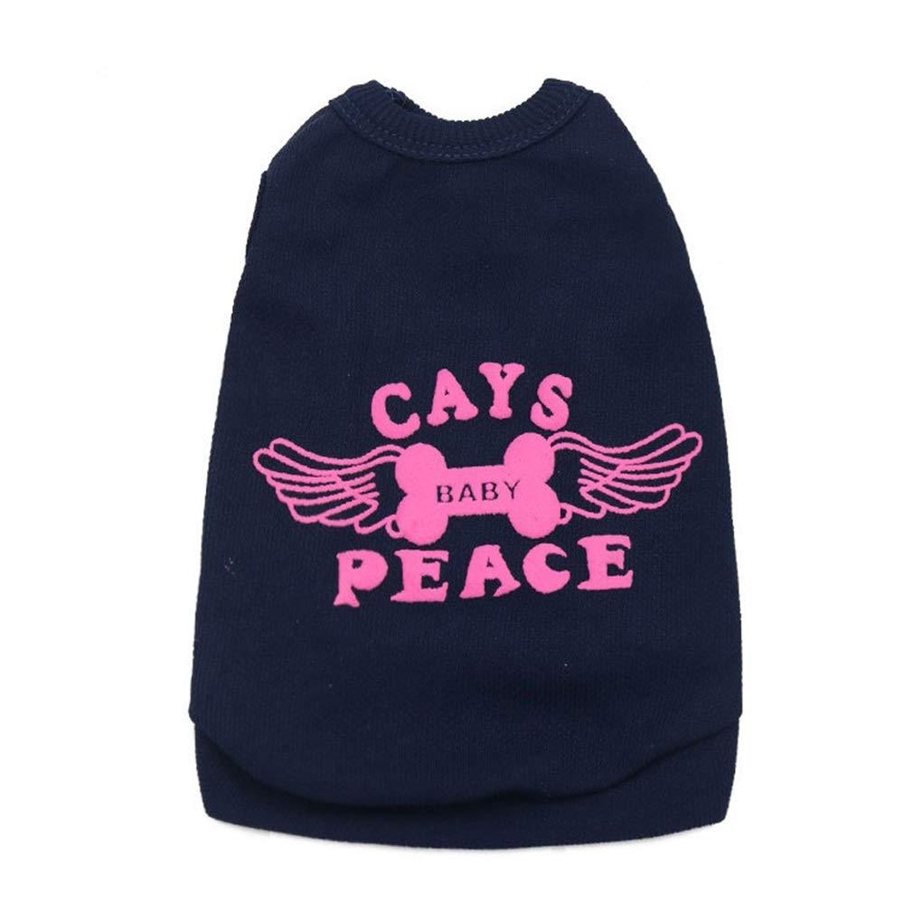 As shown L As shown L Huayue Pet Cat Letter T-Shirt Pet Dog Vest Pet Dog Costume Puppy Vest.School Bag (color   As Shown, Size   L)