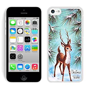 2014 Newest Iphone 5C TPU Case Christmas Deer White iPhone 5C Case 7
