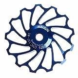 SANNYSIS 13T MTB Ceramic Bearing Jockey Wheel Pulley Road Bike Bicycle Rear Derailleur (Blue)