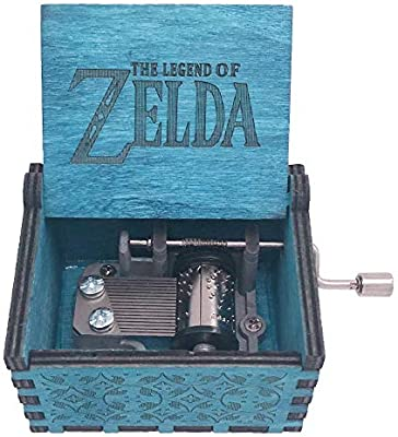 The Legend of Zelda Music box Hand Crank Musical Box Carved Wooden Music Toys
