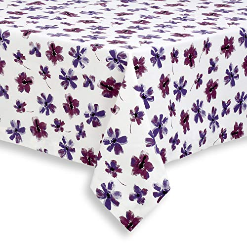 Cackleberry Home Lilac Bloom Cotton Fabric Tablecloth, 60 x 84 ()