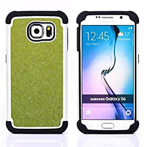 - Texture Green/ H??brido 3in1 Deluxe Impreso duro Soft Alto Impacto caja de la armadura Defender - SHIMIN CAO - For Samsung Galaxy S6 G9200