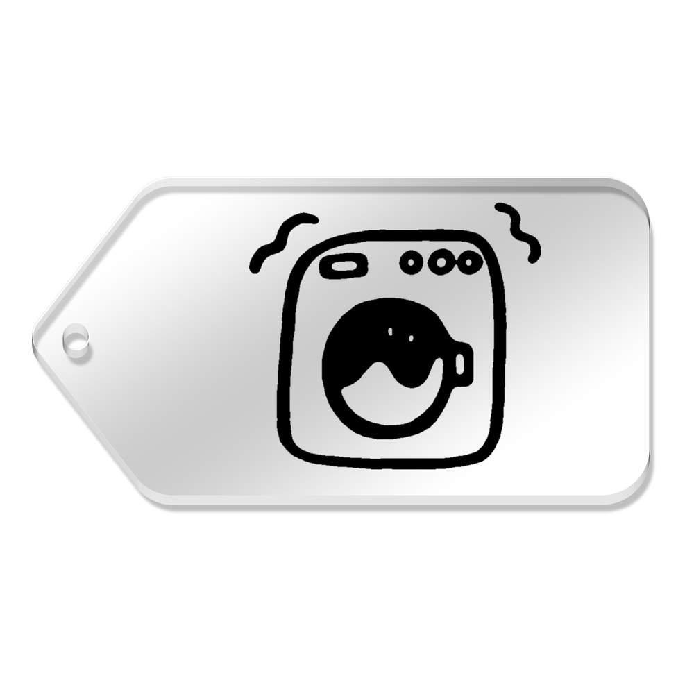 Azeeda 10 x Grand 'Machine à Laver' etiquettes de Bagage / Cadeau (TG00063804)