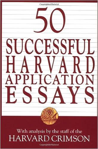 50 successful harvard application essays