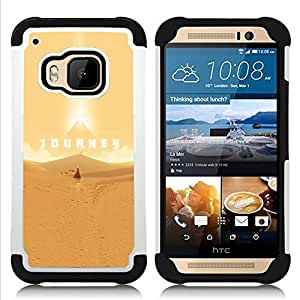 GIFT CHOICE / Defensor Cubierta de protección completa Flexible TPU Silicona + Duro PC Estuche protector Cáscara Funda Caso / Combo Case for HTC ONE M9 // Journey Game //
