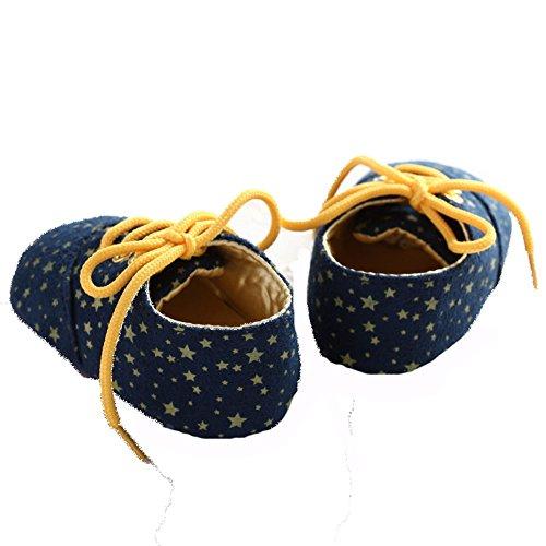 etrack-online bebé Prewalker Star Classic deportes ocio zapatos de suela suave as the picture Talla:12-18months as the picture