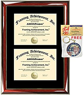 amazon com triple diploma frame horizontal certificate frames