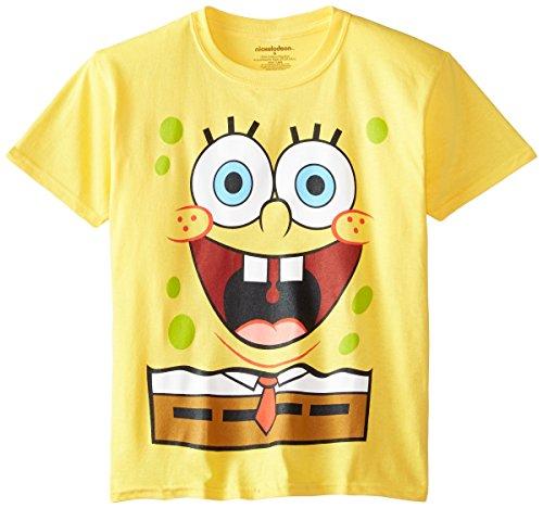 Nickelodeon SpongeBob SquarePants Big Boys' T-Shirt Shirt, Yellow, X-Large/18